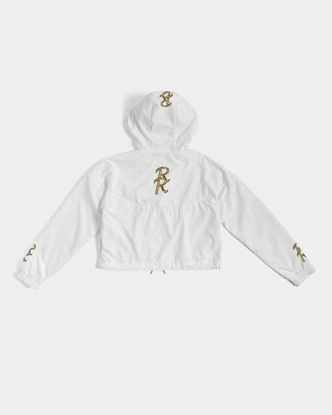 RRLS Logo 2 Women's Cropped Windbreaker - RisaRose Luxury Shop