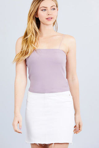 Elastic Strap Heavy Rib Tube Top - RisaRose Luxury Shop