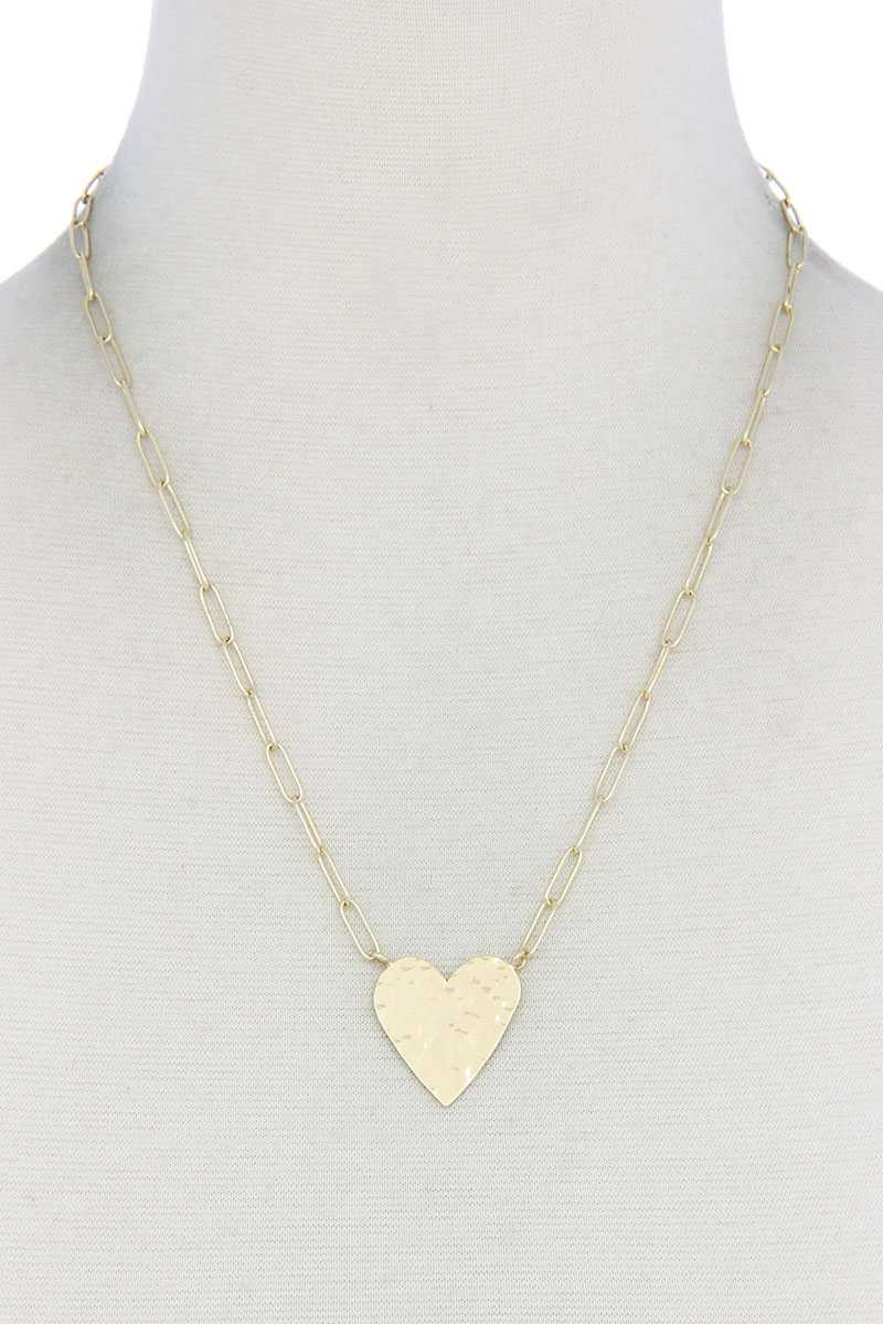 RisaRose Luxury Shop Gold Heart Necklace