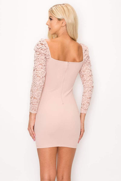 Lace Lover Cutout Long Sleeve Dress - RisaRose Luxury Shop