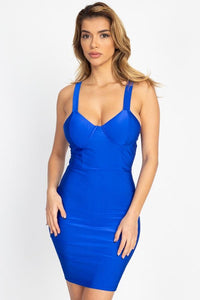 Satin Bustier Mini Dress - RisaRose Luxury Shop