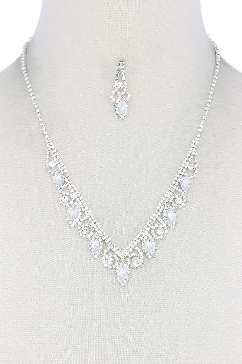 Rhinestone Necklace - RisaRose Luxury Shop