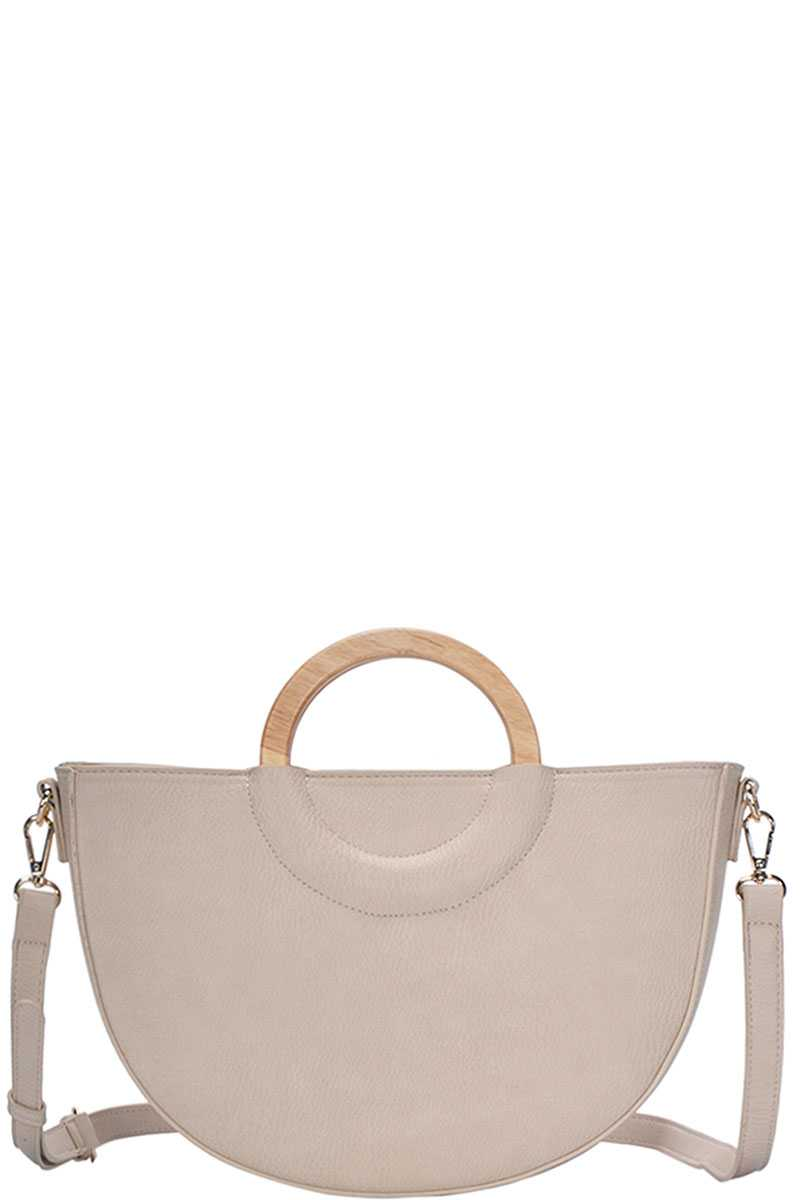 Stylish Semi Circle Modern Satchel With Long Strap - RisaRose Luxury Shop
