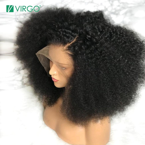 Mongolian Afro Kinky Curly Lace Front-Pre Plucked 150 Density Remy - RisaRose Luxury Shop