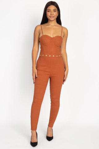 Waist Cutout Skinny Jumpsuit - RisaRose Luxury Shop