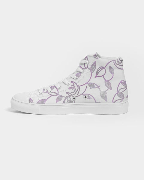 RRLS Rose Women's Hightop Canvas Shoe - RisaRose Luxury Shop