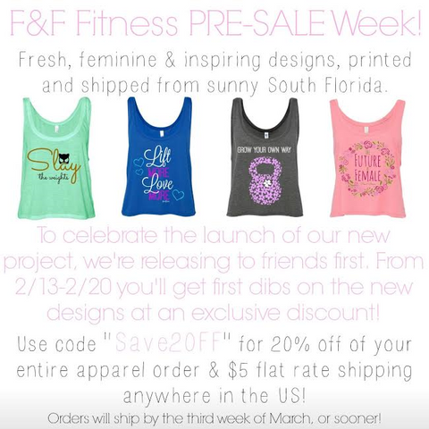 Fine & Fleurie Coupon code save 20% on fitness fashion apparel for crossfit girls