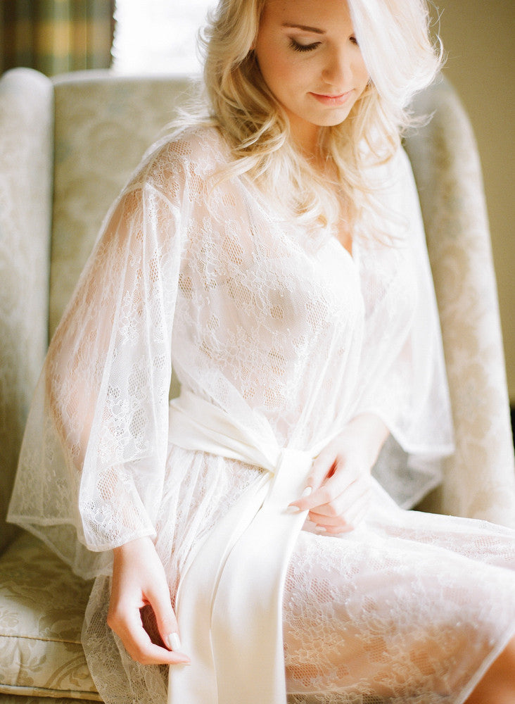 Heirloom Bridal Robe In Ivory Italian Lace Fine Amp Fleurie