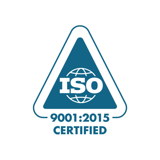 ISO 9001:2015 Certified branded icon certification