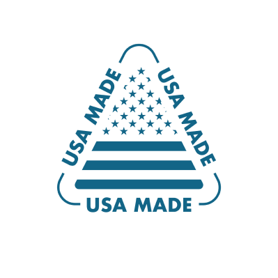 USA made branded icon badge