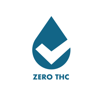 Zero THC branded icon badge