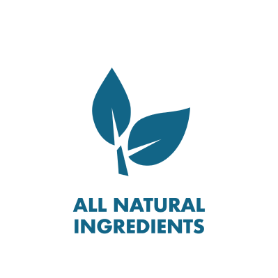 All Natural Ingredients Leaf branded icon badge