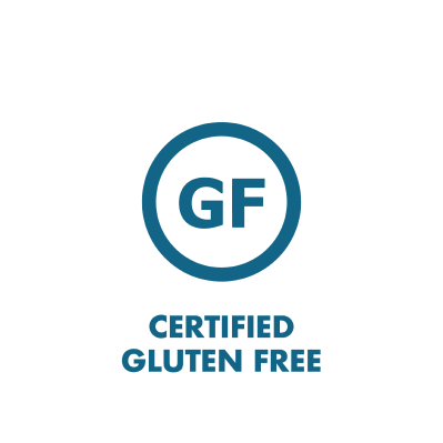 Certified Gluten Free branded icon badge