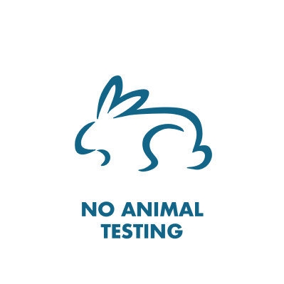 No Animal Testing branded icon badge