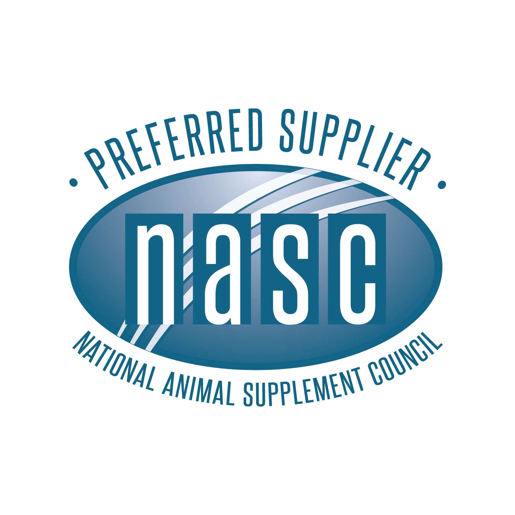 Preferred Supplier National Animal Supplement Council NASC branded blue icon
