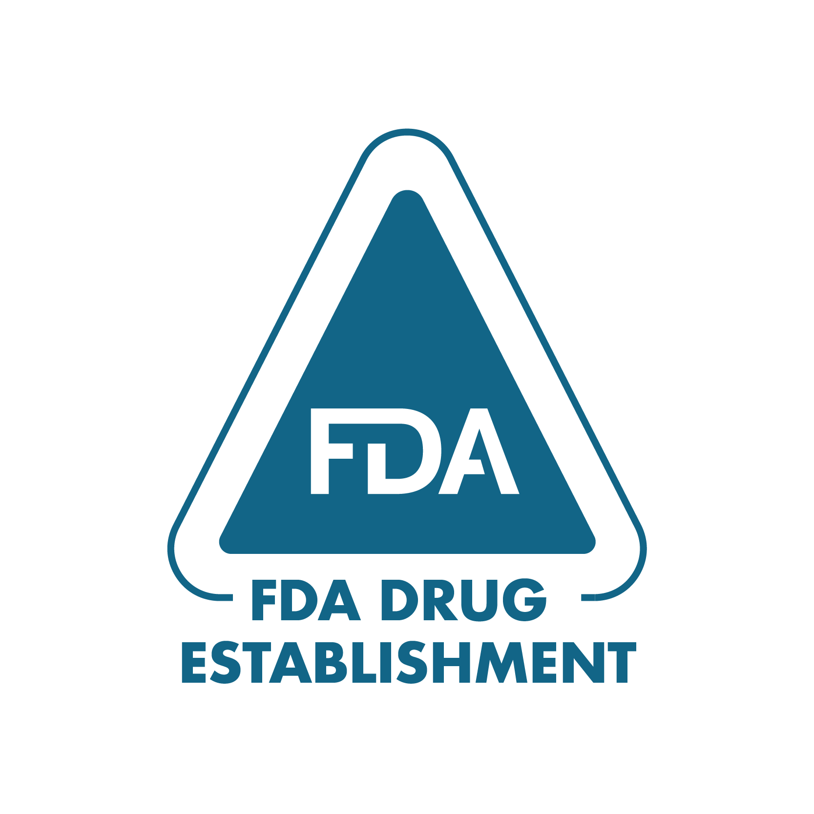 FDA Drug Establishment branded blue icon