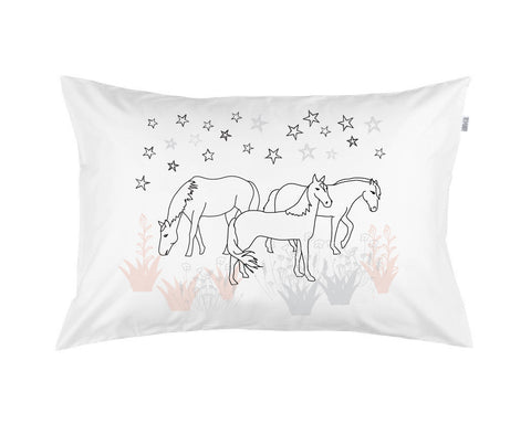 Dreaming of Horses and Stars 3 colour Pillowcase