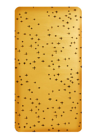 Limited Edition Mustard Cross cot Fitted sheet