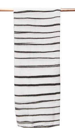Bamboo/cotton muslin wrap - Painted Stripe Print