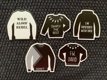 Load image into Gallery viewer, David's Sweaters STICKER 5-Pack