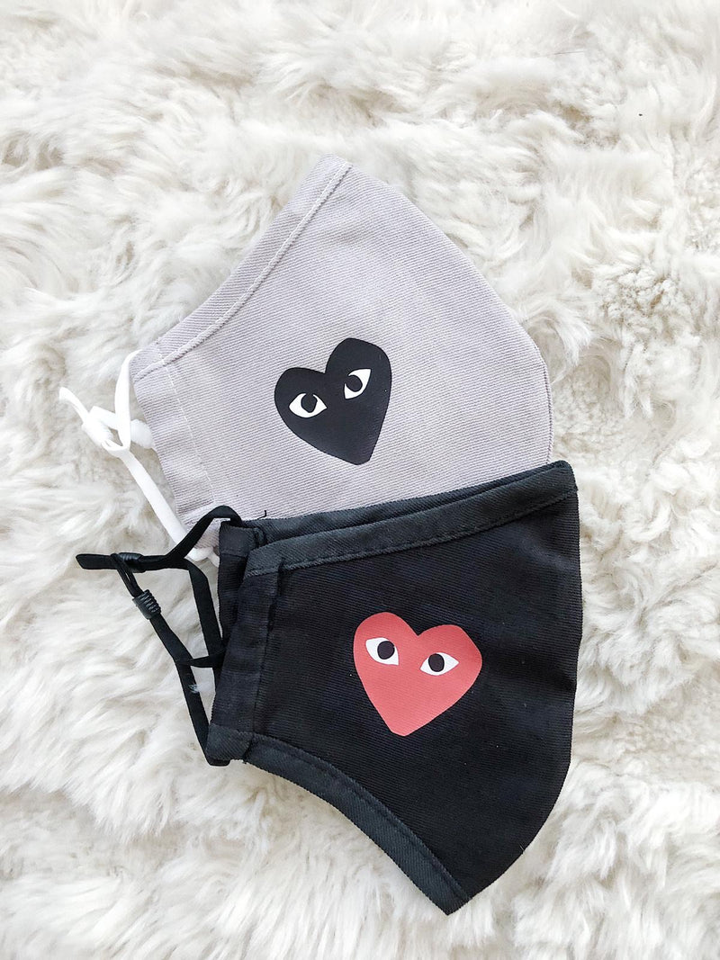"Facemask ""Heart"" 2x Pack"