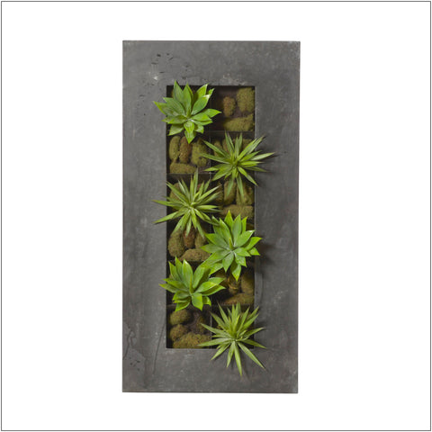 Agave Mix-Wall Planter Rectangle