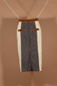 Suspender Skirt (Cream Chocolate)