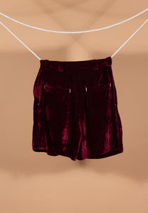Velour Shorts (Blue)