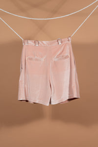 Velour Shorts (Blush)