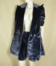 Load image into Gallery viewer, Velour Coat (Blue)