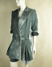 Load image into Gallery viewer, Velour Coat (Moss)