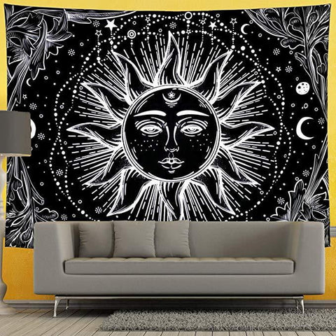 Mandala Black Moon Tapestry - Dharmic Buddha Power