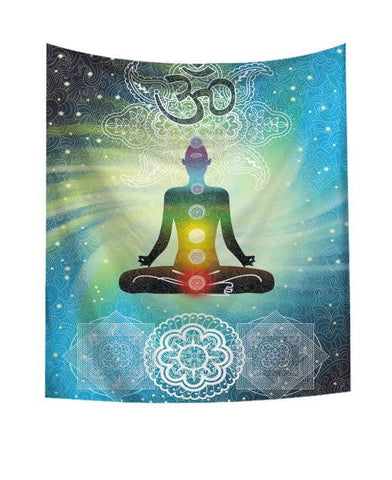 Indian Chakra Mandala Tapestry - Dharmic Buddha Power