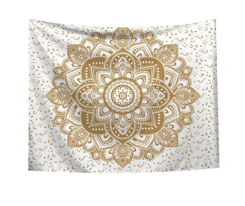 White Gold Dharmic Tapestry - Dharmic Buddha Power