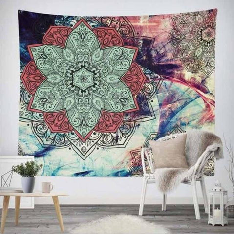 Flower of Life Mandala Tapestry - Sacred Geometry - Dharmic Buddha Power
