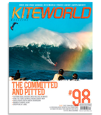 Cover of Kiteworld Magazine and a full page Patagonia ad!