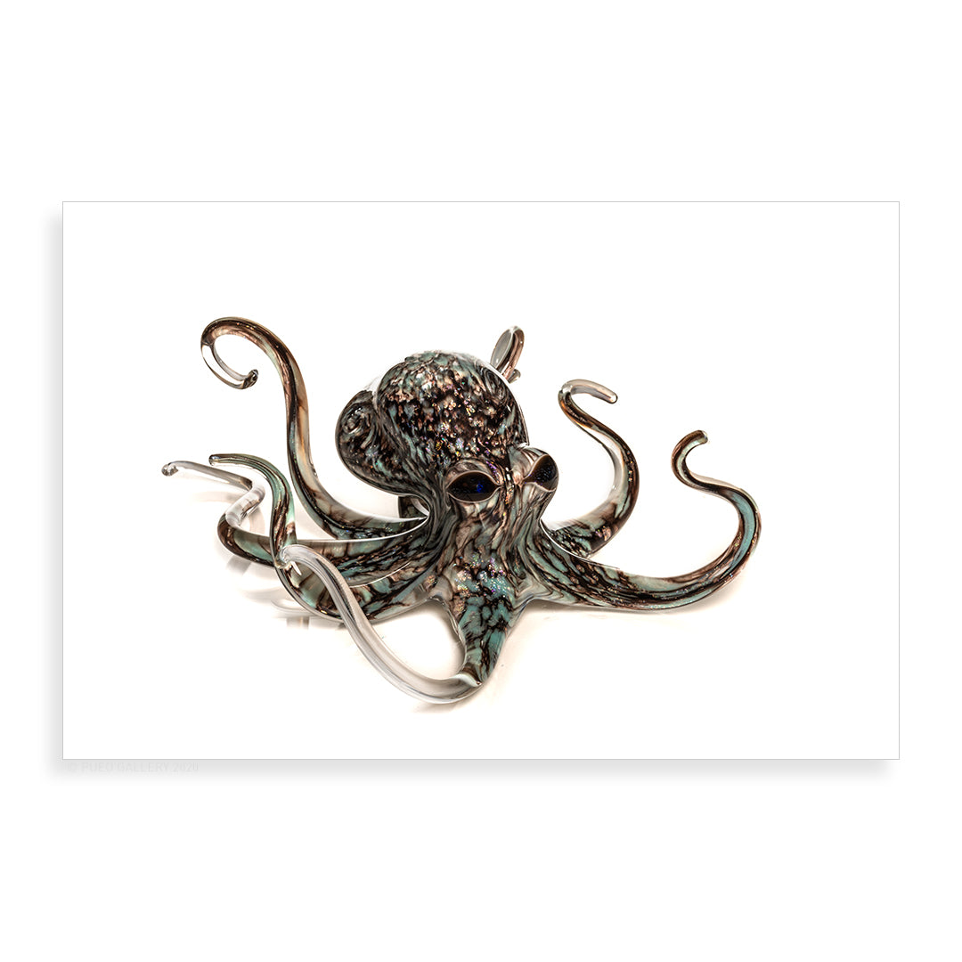 Medium Aqua Grey Octopus - Pueo Gallery