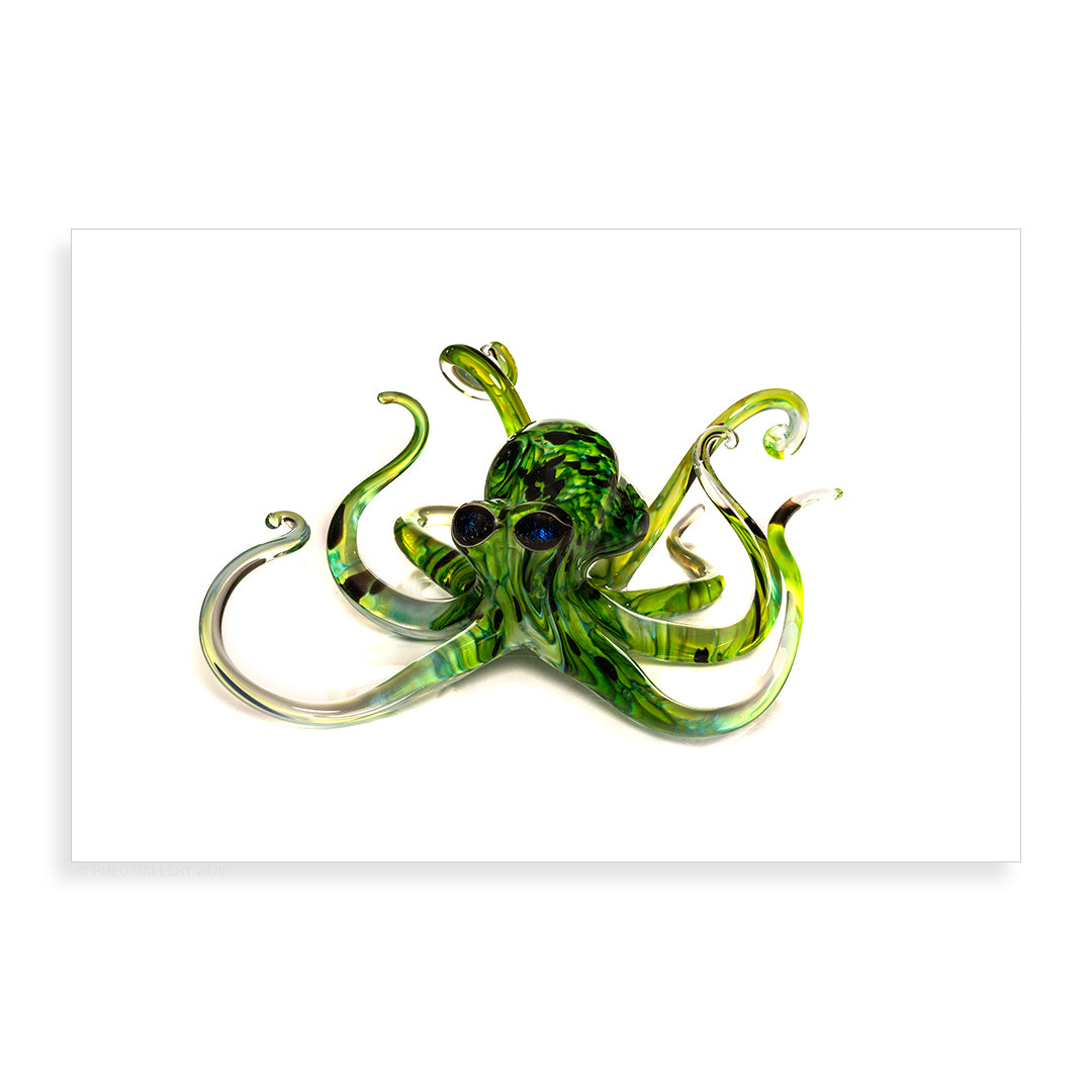 Small Spring Green Octopus - Pueo Gallery