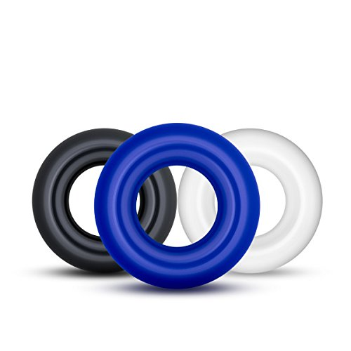Triple Donuts Cockring Kit from Blush Novelties, Phthalates Free, 3 colors. Perform like a stud, super stretchy! - Pleasuremalta