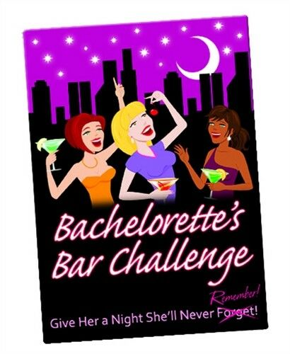 Bachelorette's Bar Challenge Card Game - Pleasuremalta