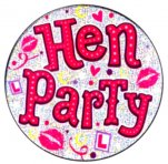 Hen Party Holographic Big Badge - Pleasure Malta