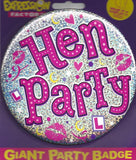 Hen Party Giant Badge - Pleasuremalta