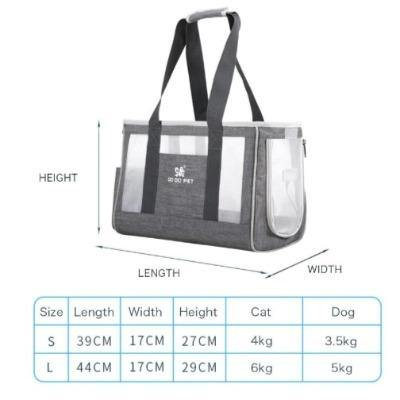 Pet Portable Outdoor Travel Carrier Mesh Four Sides Bag - The Pet Talk