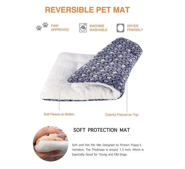 Flannel Thickened Pet Soft Fleece Pad - The Pet Talk