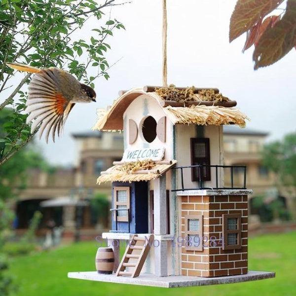 Bird House Villa Creative Wood Design Handmade | The Pet Talk