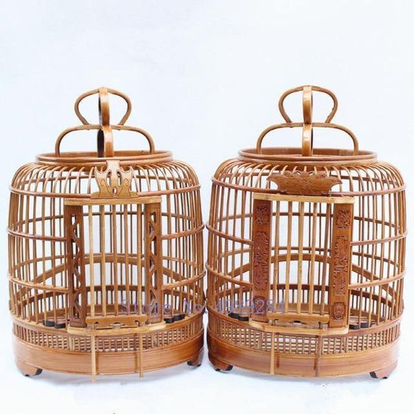 Bamboo Handmade Small Canary Birdcage | The Pet Talk