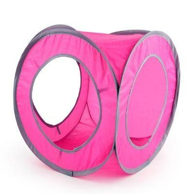 Cat Tunnel 2 Holes Play Tubes Balls Collapsible Chat Tunnel - The Pet Talk