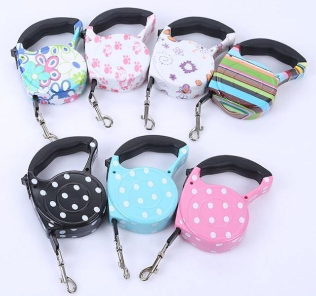 Cute Pet Collar Leash Automatic Retractable Leash - The Pet Talk