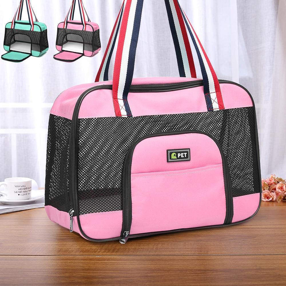 Portable Pet Carrier Bag Breathable Mesh Front Opening - The Pet Talk