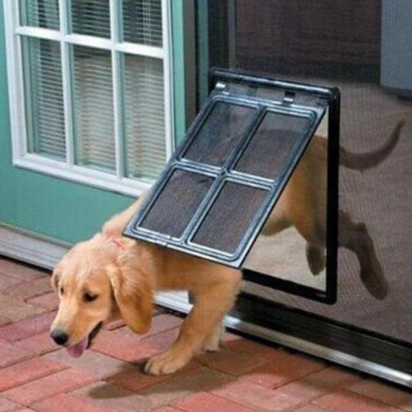Lockable Plastic Pet Door for Screen Window Security Flap Gates | The Pet Talk
